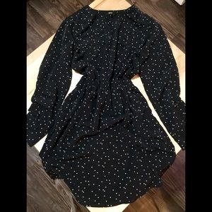 Mossimo Polka Dot Dress with Roll Up Sleeves